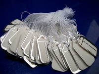 Jewelry Display 200Pieces Tie-on Price Tags with String Silver Paper Tags Labels for Jewelry Clothing,Free Shipping