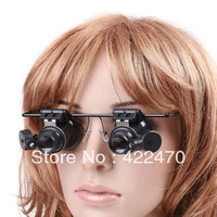 Free Shipping Wearing Glasses Loupe LED Lamp ,White Light Repair Magnifier ,Miq 1Pcs
