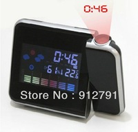 HOT Weather Multi-function Station Projection Alarm Clock LED Display Free Shipping
