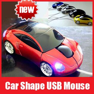 Free Shipping, PC Laptop 800dpi 3D Optical USB Car Shape Mouse Mice