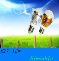 5X Bulk Buy   Bubble Ball Bulb Light  AC85-265V E27 12W Silver/Gold Shell Color Warm/Cool White freeshipping
