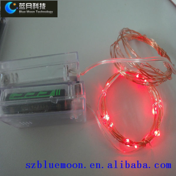Battery operated led string lights/mini led string lights/ led copper wire string lights(China (Mainland))