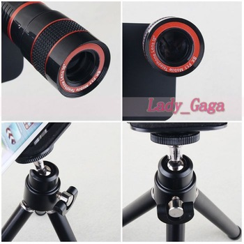10pcs/lot, Newest 8X Optical Zoom Lens Camera Kit With Tripod And Retail Packing For Apple Iphone 5,Drop shipping