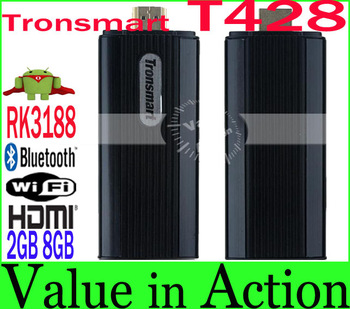 New Arrival Tronsmart T428 RK3188 Quad Core Mini TV Box Android 4.2 Smart TV Stick 2GB RAM 8GB ROM Broadcom AP6330 BT Wifi