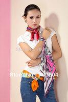 2014 Hot Selling! 50*50cm 100% Silk Spring/Autumn/Winter Women Square Scarf/ Pashmina,Gift, Scarves for woman, Bandana