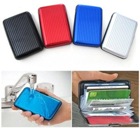 Waterproof Business ID Credit Card Wallet Holder Aluminum Metal Pocket Case Box[E00202]