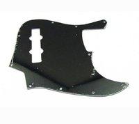 1pcs Plain Black Jazz Bass JB Style JB Pickguard 3Ply 10Hole M575