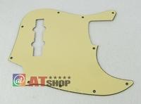 1pcs Jazz Bass JB Style Pickguard 3Ply Bass Pickguard Cream Color M653