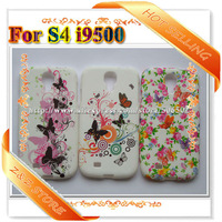 For Samsung S4 Case Soft Tpu Flower Butterfly Cases for I9500 18pcs/lot