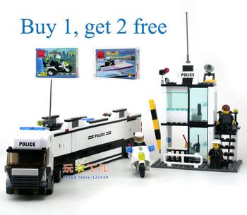 Multifunctional Police car model Kazi 6727 building blocks, assembling educational toys, children birthday gift, Free Shipping