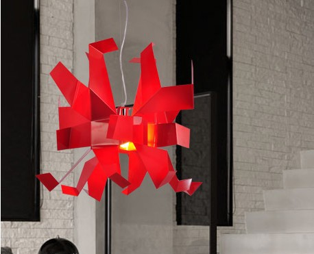 Free Shipping Hot Selling Italy Glow Paper Cranes Fashion Modern Pendant lamp,Designed By Garcia Jimenez Red White YSL - 0134(China (Mainland))