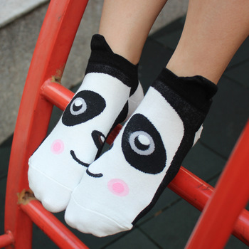 Cute Korean candy colored cartoon couple socks socks
