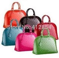 alma bag Women women's Embossed japanned leather handbag wrist length women's handbag m51130 m93596 m95280m93594 bags