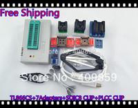 Free Ship NEW SOIC8&PLCC CLIP Hot Sale V6.0 TL866CS High speed  USB BIOS MiniPro Universal Programmer+9Adapters+13143 chips