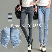 1pcs Free shipping fashion jeans winter plus size women's denim trousers pencil pants trousers #J930