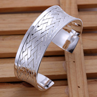 Free shipping 925 sterling silver jewelry bangle fine fashion bracelet bangle top quality wholesale and retail SMTB031