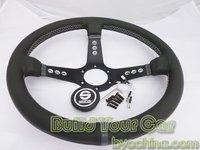 Sparco Leather Steering Wheel, Racing Steering Wheel ,13 inch