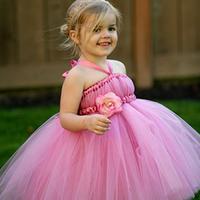 Pink junior bridesmaid dresses, little girls dress, flower dress princess dress 1037 Sunlun Free Shipping 2013 New Arrival