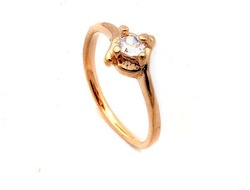 100pcs Wholesale Jewelry Bulk White CZ Crystal Gold Plated Rings Free Shipping(China (Mainland))