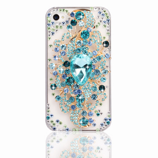 Angel Tears romantic totem luxury diamond  3D Element Design Rhinestone Diamond Cell Phone Case Bling Cover For ip4/4s