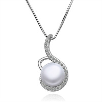D's Free Shipping Fashion Necklace Romantic Pendant Real Pearls Pendants Birthday Gift DSPLP005