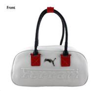 Black/White Free shipping 2013 brand designer leather gym bag women,sport bag leisure handbags gym duffle bags brand items GB36