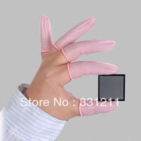 Pink color anti-static finger cots latex anti-static finger cots latex anti-static gloves dust free finger cots