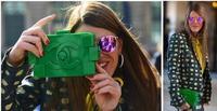 C Blocks Plastic Clutch Evening Bag Celebrity Messenger Bag Legonew Set Black-Gold Prom Fashion Shoulder Bag