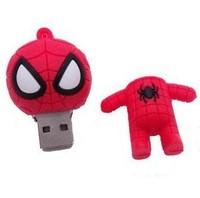 M-167 Wholesale Cheap Enough Cartoon Red Spider-Man 4GB 8GB 16GB 32GB 64GB USB 2.0 Flash Memory Stick Drive Thumb/Car/Pen Gift