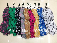 Free shipping ladies fashion animal  scarf  big size in mix colour