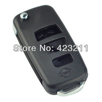 FLIP Folding Remote Key Shell Case For Nissan Titan Pathfinder Armada 3BT  FT0122
