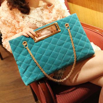 2013 original design brand high quality plaid bag fashion chain bag shoulder bag handbag women's scrub totes ad1511