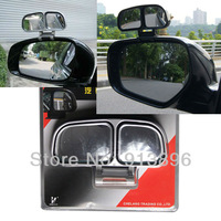 TypeR blind spot mirror car side view mirror rear view mirror decorations blind mirror silver/black color 2pcs/lot