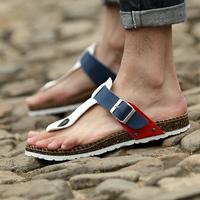 2014 Summer Flip-flop Slippers Male Trend Flip Flops Sandals Fashion Sandals Men's Leather Slipper