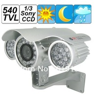 540TVL 1/3 Sony CCD 8mm Lens Waterproof Camera Support 80m IR View Distance