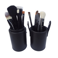Hot Make up brush sets 1 set New Professional black 12 pcs Professional Makeup brushes Cosmetic Eyeshadow Blush Sets & Kits