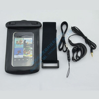 Universal Waterproof earphone bag Case For iphone5 Underwater Dry Bag Pouch Outdoor equipment