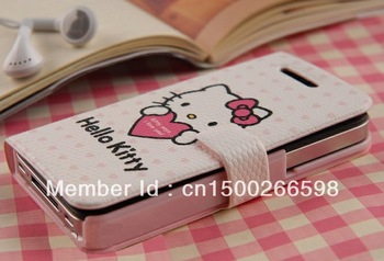Best Selling Hello kitty case Cartoon Series Matte Hello kitty Cell phone cover case for i phone 5 5s Freeshipping