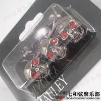 Free shipping 3PCS Skull Head Knob Volume Tone Control Knob For GB, L P Guitar Potentiometer Hat Switch Gear Hat - black