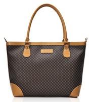 LZ free shipping fashion small plaid shoulder bag pu leather women's handbag messenger bag A4 big office business bag