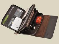 LZ bags Ds . jiezou genuine leather wallet man bag clutch envelope clutch bag commercial cowhide 22*13*4cm black brown