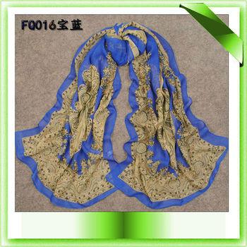 Free Shipping Mutilcolor Provided Fashion Paisley Design Printed Muslim Scarf Islamic Shawl Hijab