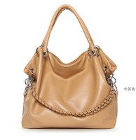 LZ free shipping 2013 women's candy color pu leather handbag casual bag handbag shoulder bag elegant women's handbag chain bag