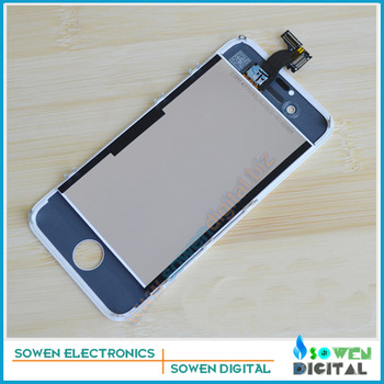 For iPhone 4s LCD Display+Touch Screen digitizer+Frame+camera holder+earphone dust cover+ small parts full sets,Free Shipping
