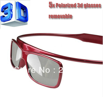 Free shipping circular polarized 3D glasses television led 3d anaglyph glass
