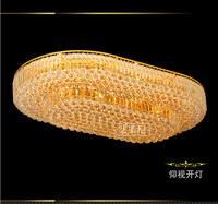 HOT Oversized Traditional gold Crystal led lighting125CM *75cm*27CM living room lights ceiling light fitting CE ROHS&EMC ...