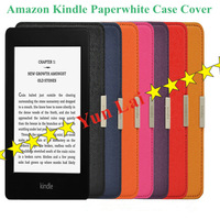 Wholesale 2013 New High Quality PU Leather Case Cover for Amazon Kindle Paperwhite with Turn on/off Function - Free Drop shiping