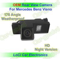 Free shipping! HD Rear View Mercedes Benz Viano Vito CCD night vision car reverse camera auto license plate light camera