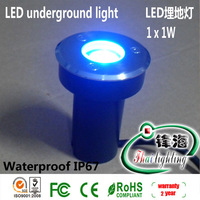 Free shipping wholesale 12V 1W led underground light led inground light led light warranty 2 year CE and Rohs[fhailigting]