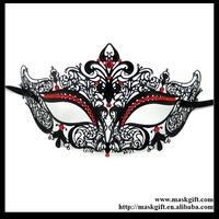 48pcs/lot MB003-RBK Exquisite Venetian Laser Cut Filigree Metal Lace Masquerade Masks Free Shipping